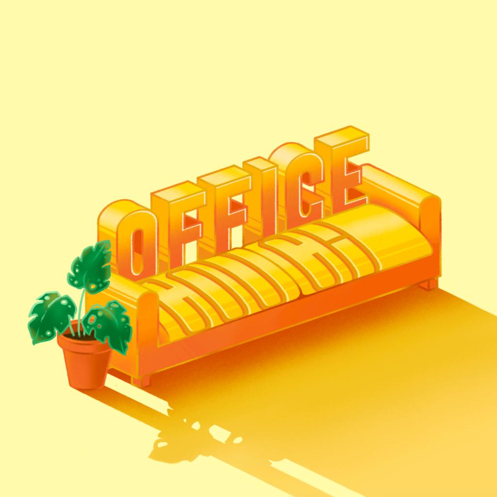 Office Couch - Kaitlyn Armitano