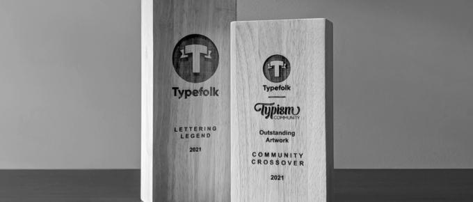 Typefolk Typism 2021 Collab Trophies
