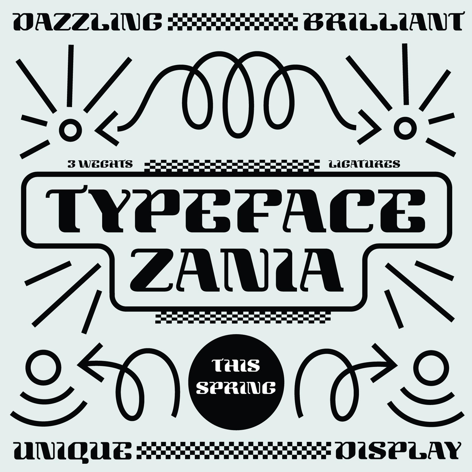 Zania Typeface - Ewa Olszewska